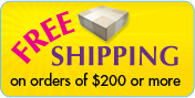Free standard shipping on orders of $200 or more